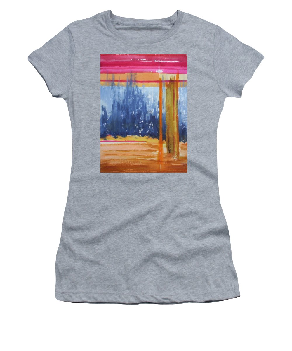 Landscape Women's T-Shirt featuring the painting Opening by Suzanne Udell Levinger