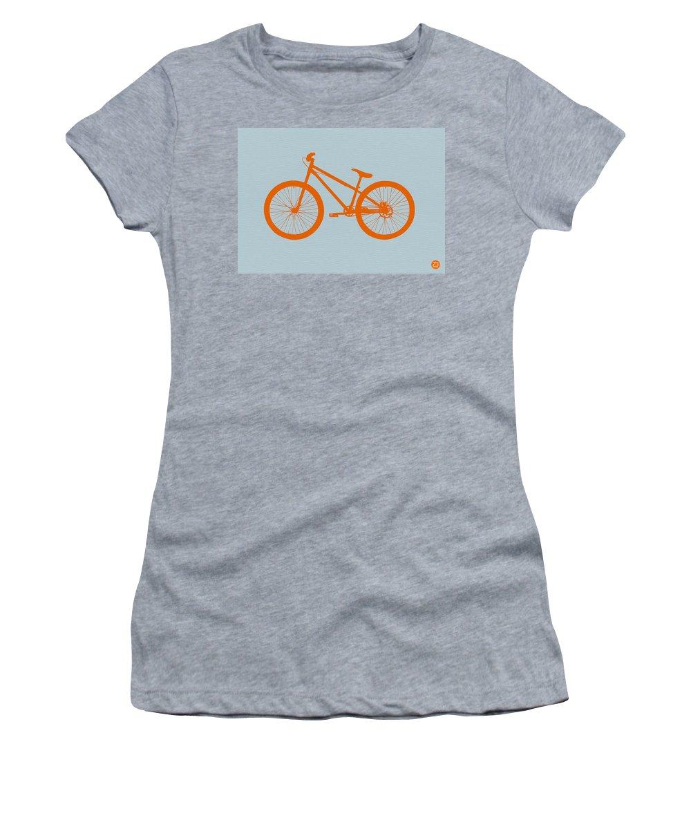 Bicycle Women's T-Shirt featuring the digital art Orange Bicycle by Naxart Studio