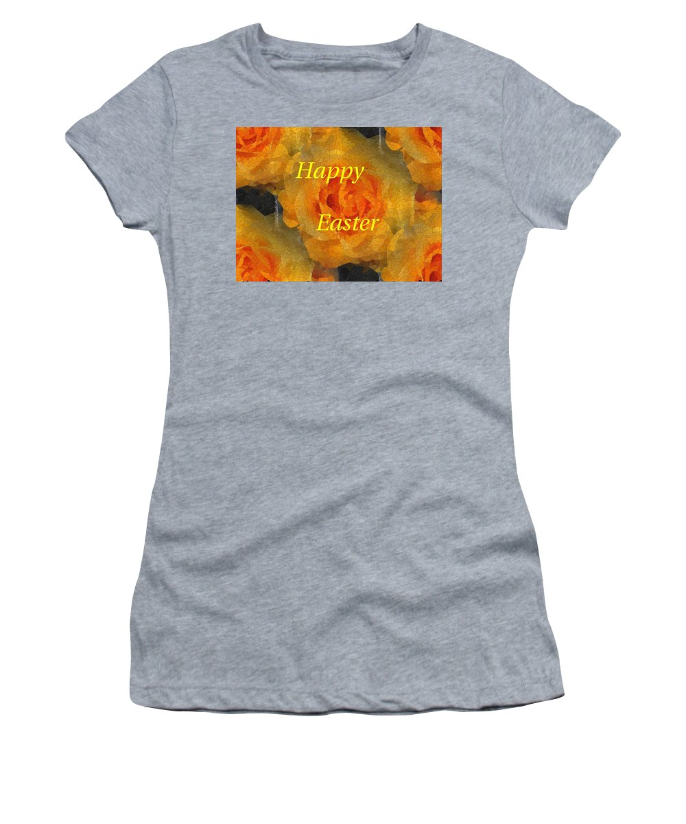 Easter Women's T-Shirt (Athletic Fit) featuring the digital art Orange You Lovely Easter by Tim Allen