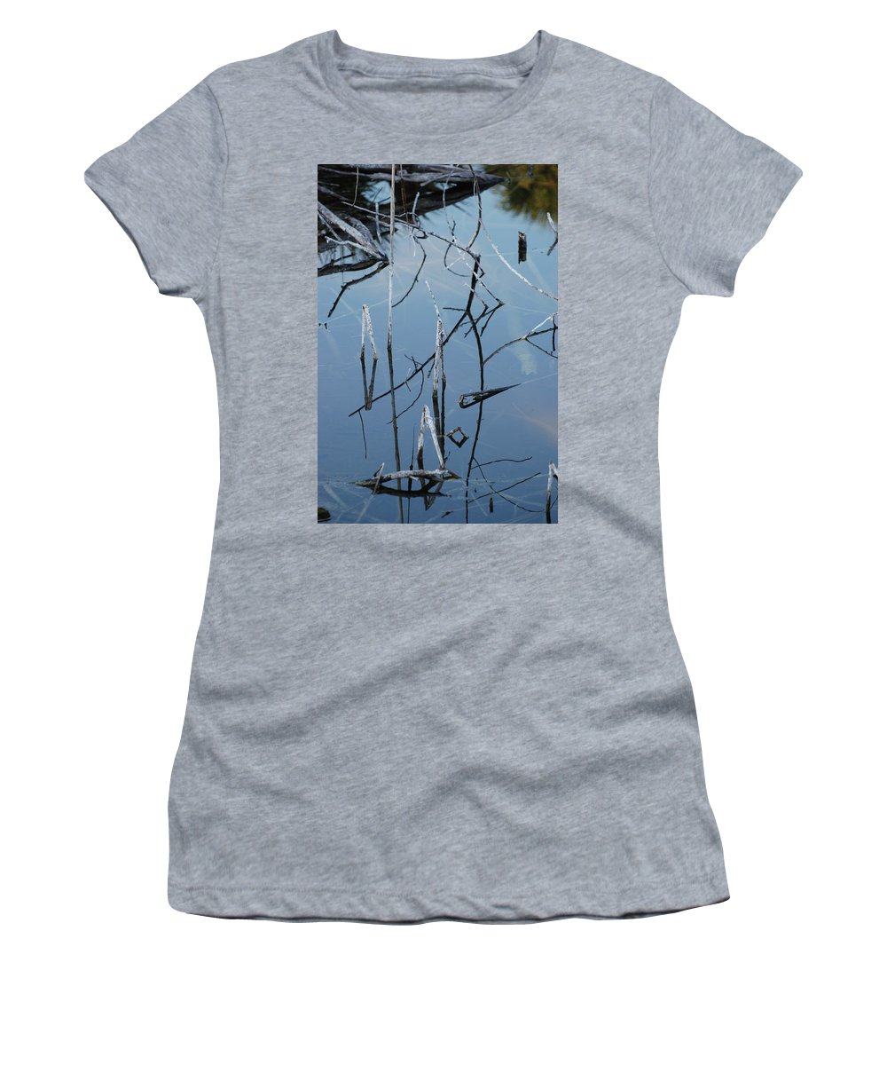 Wood Women's T-Shirt featuring the photograph Out From The Water by Rob Hans