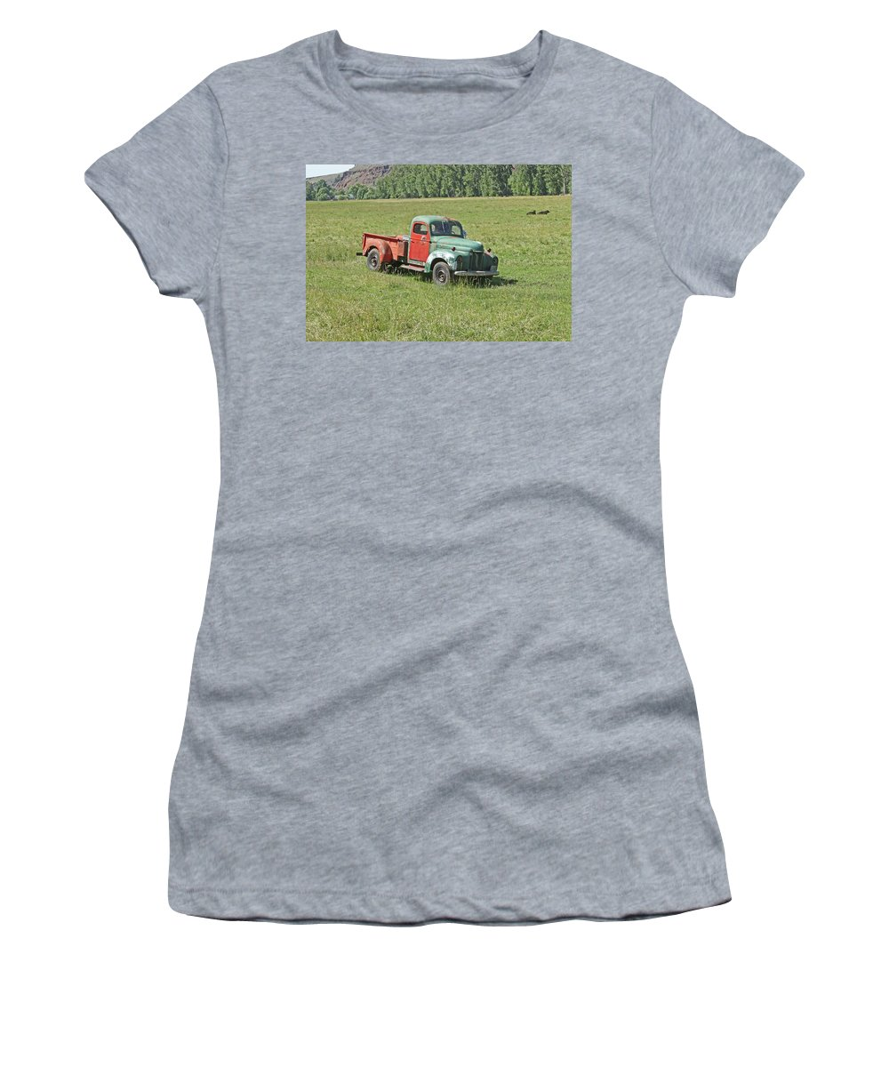 Car Women's T-Shirt (Athletic Fit) featuring the photograph Out To Pasture by Ira Marcus