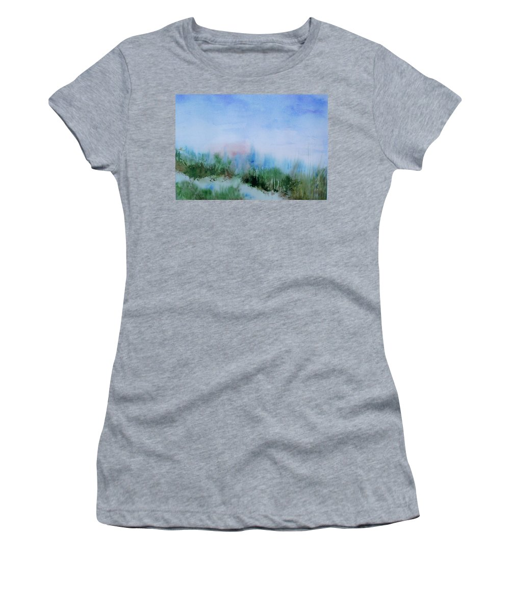 Landscape Women's T-Shirt featuring the painting Overlook by Suzanne Udell Levinger