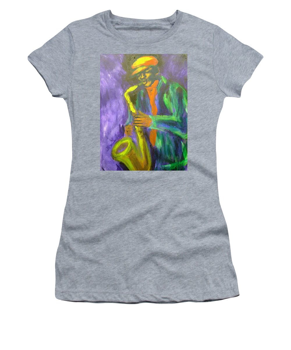 Painting Women's T-Shirt (Athletic Fit) featuring the painting The M by Jan Gilmore