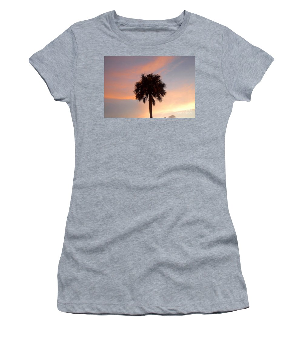 Palm Tree Women's T-Shirt (Athletic Fit) featuring the photograph Palm Sky by David Lee Thompson