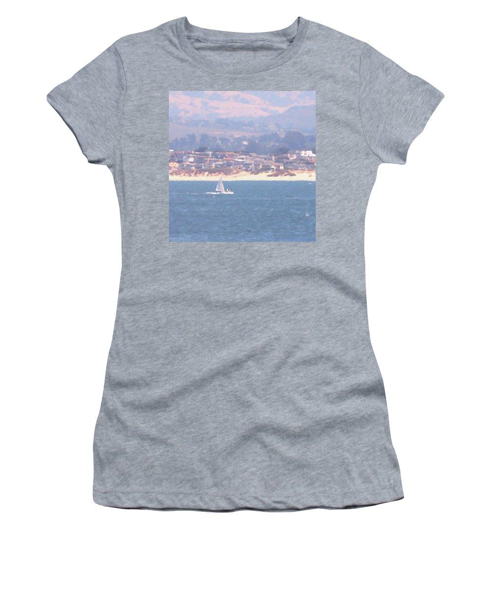 Sailing Women's T-Shirt featuring the photograph Pastel Sail by Pharris Art