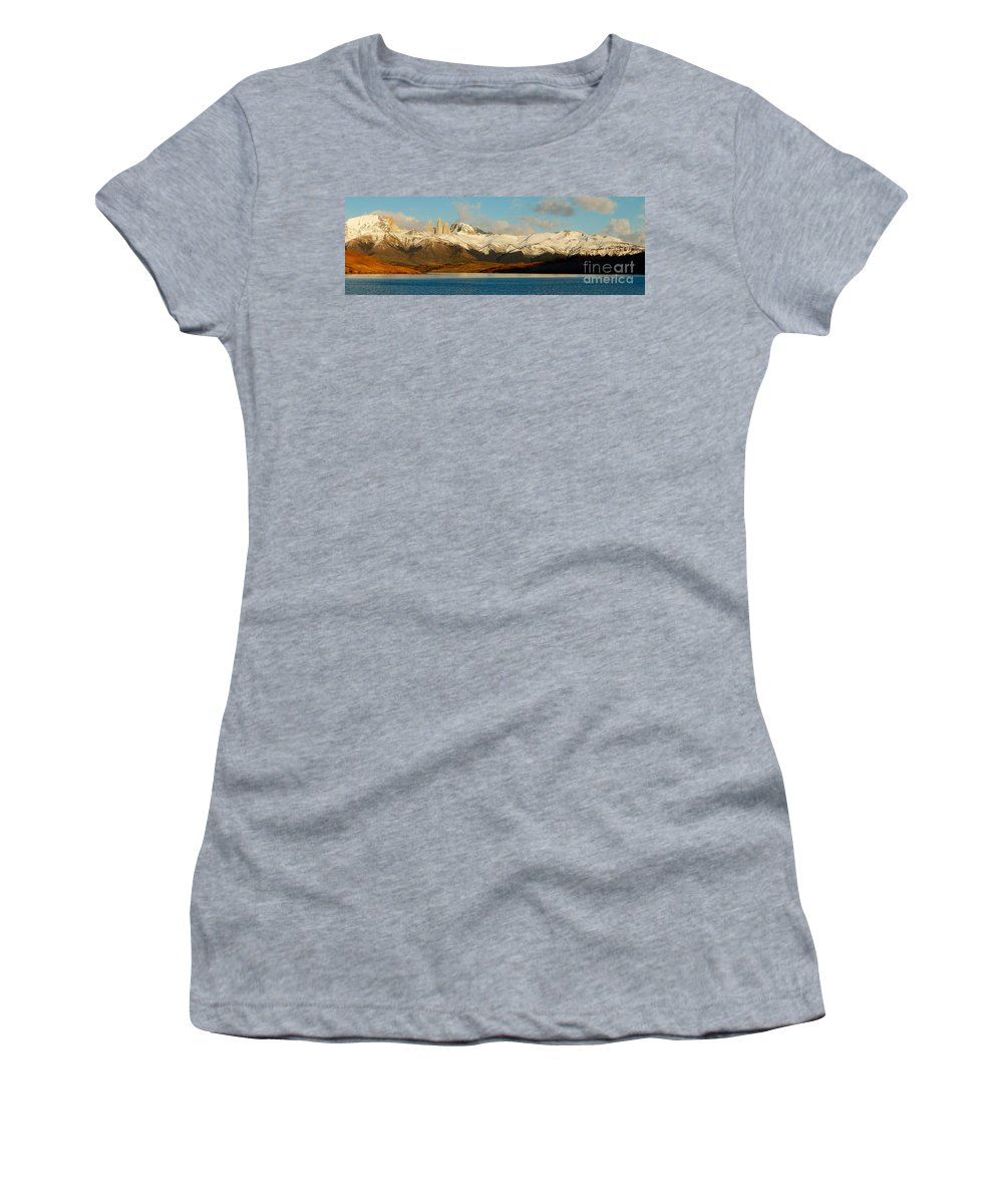 Patagonia Women's T-Shirt (Athletic Fit) featuring the photograph Patagonia Panorama by Mircea Costina Photography