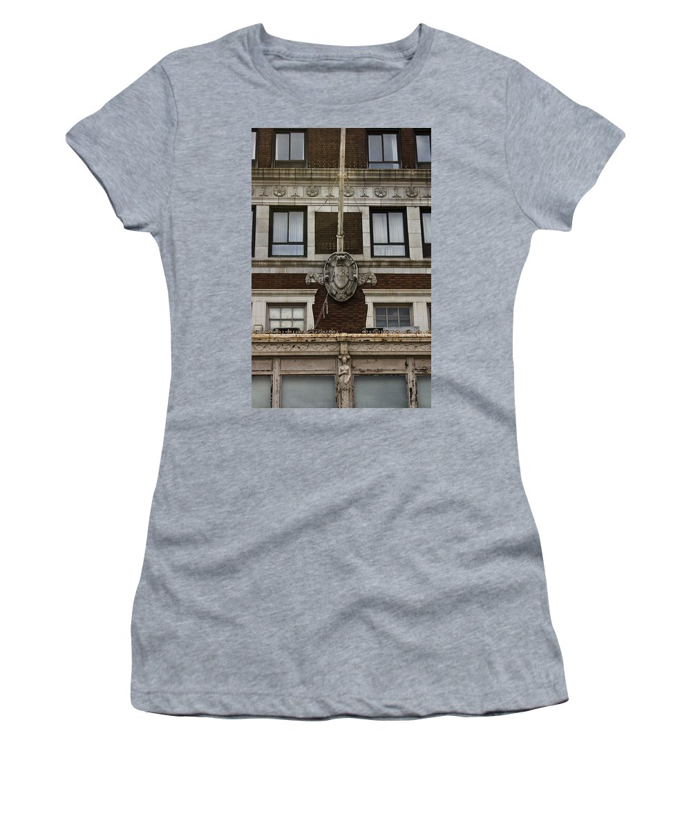 Roanoke Women's T-Shirt (Athletic Fit) featuring the photograph Patrick Henry Hotel Roanoke Virginia by Teresa Mucha