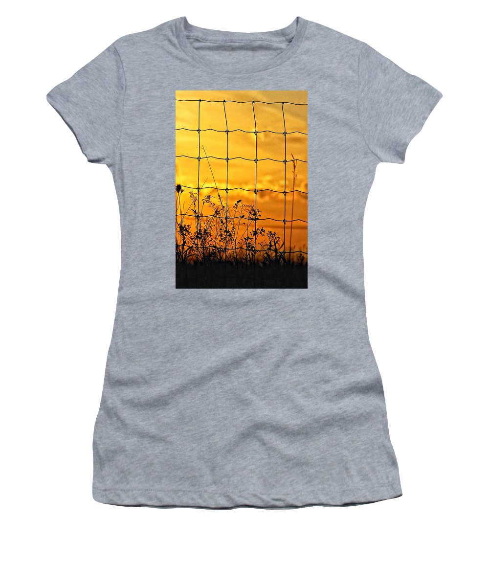Weeds Women's T-Shirt (Athletic Fit) featuring the photograph Patterns by Steve Harrington