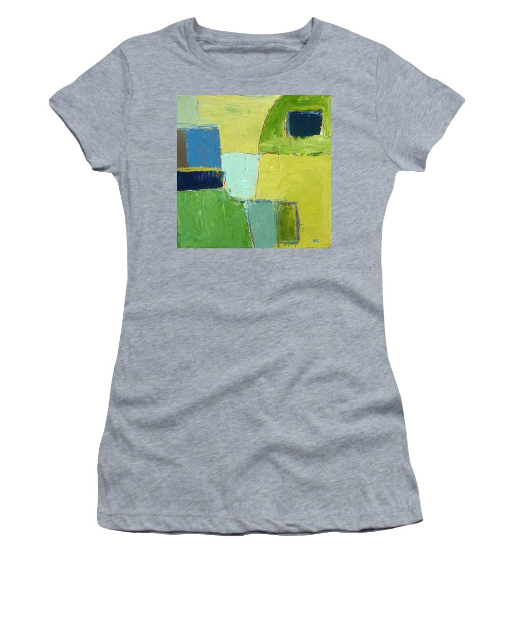 Abstract Women's T-Shirt featuring the painting Peace 1 by Habib Ayat