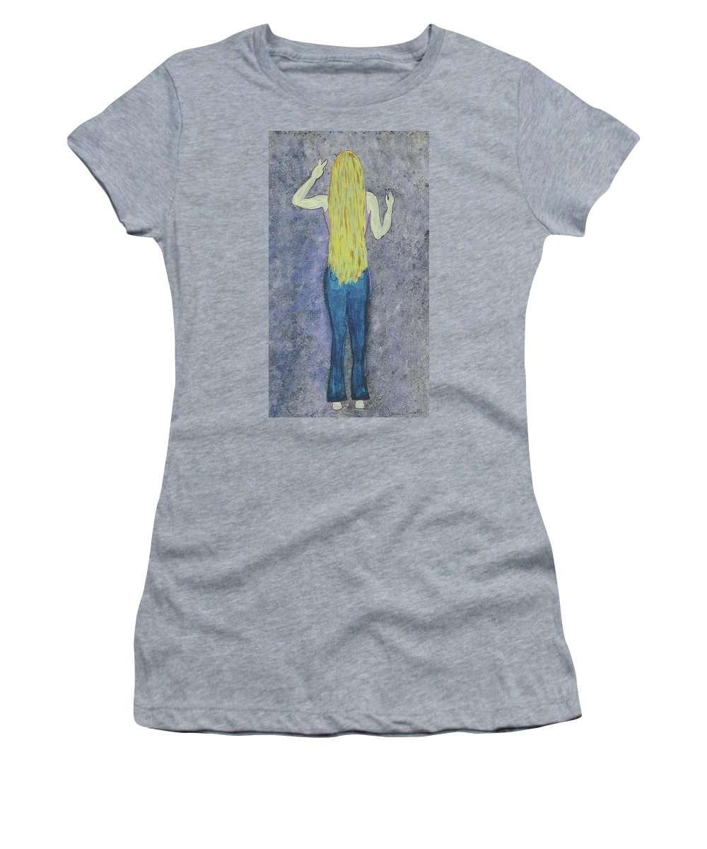 Hippie Women's T-Shirt (Athletic Fit) featuring the mixed media Peace by Desiree Paquette
