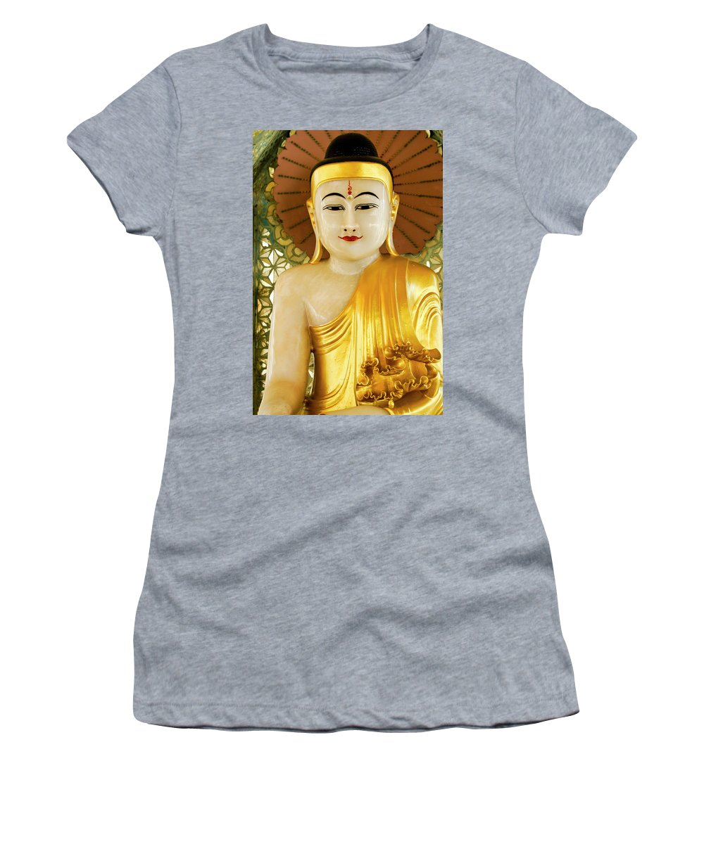 Asia Women's T-Shirt featuring the photograph Peaceful Buddha by Michele Burgess