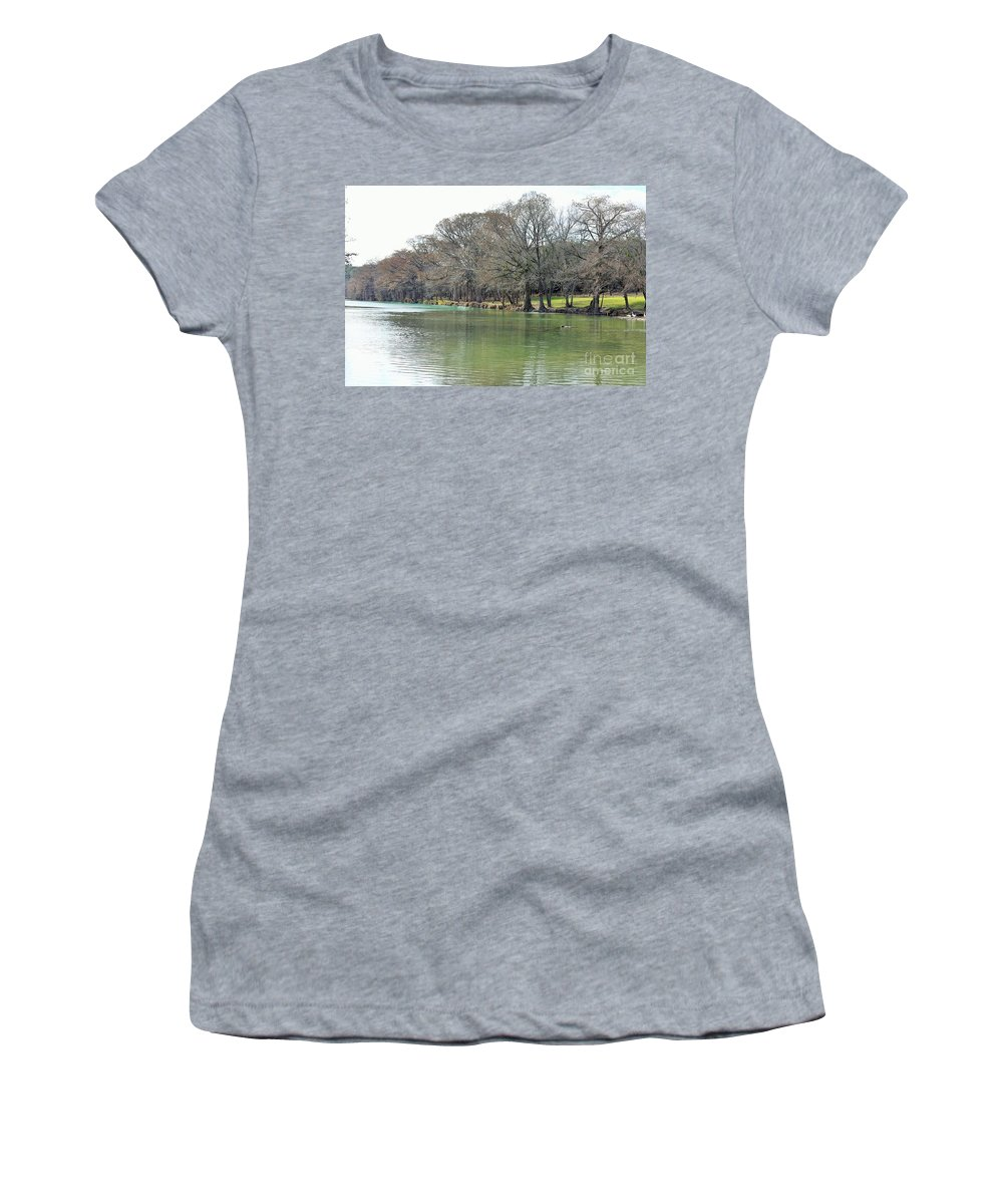 Women's T-Shirt featuring the photograph Peaceful by Jeff Downs