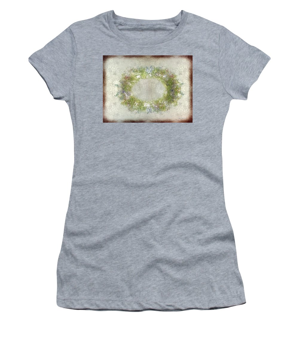 Flowers Women's T-Shirt featuring the painting Penny Postcard Rustic by RC DeWinter