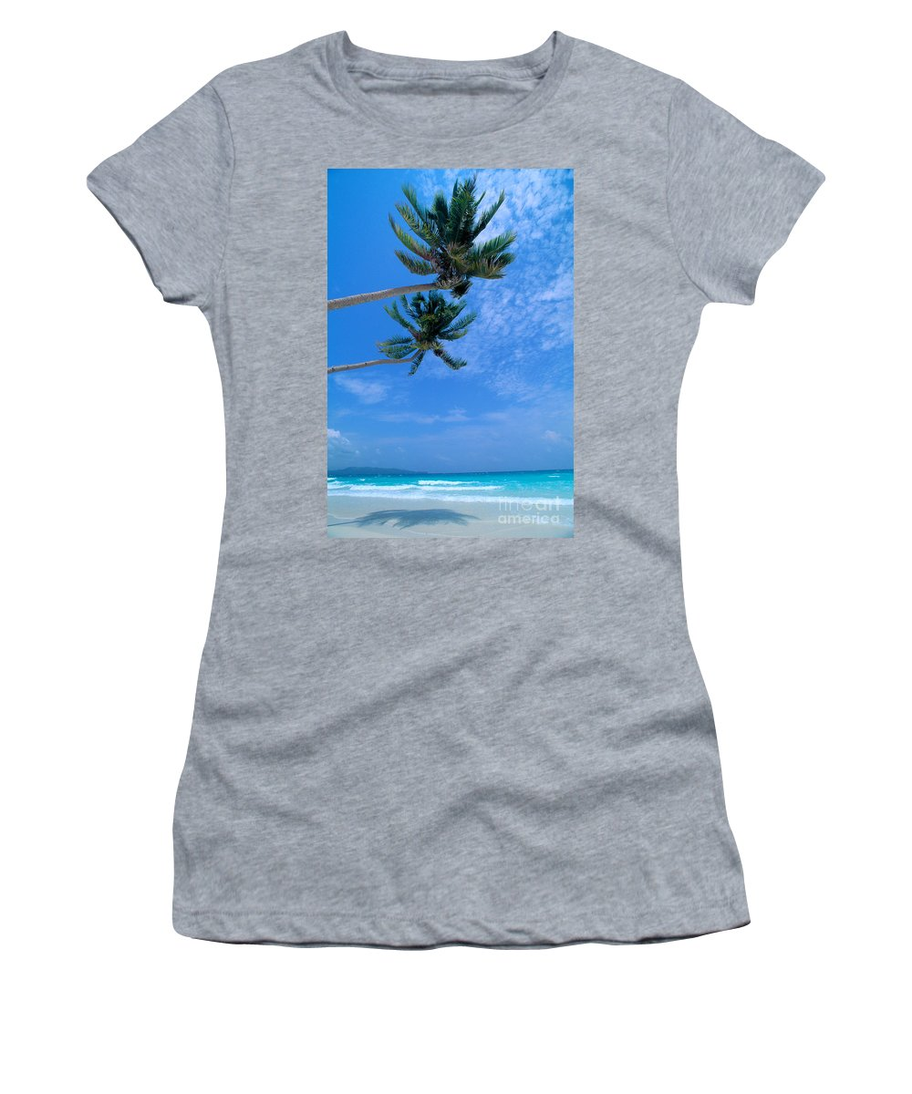 Aqua Women's T-Shirt (Athletic Fit) featuring the photograph Philippines, Boracay Isla by William Waterfall - Printscapes