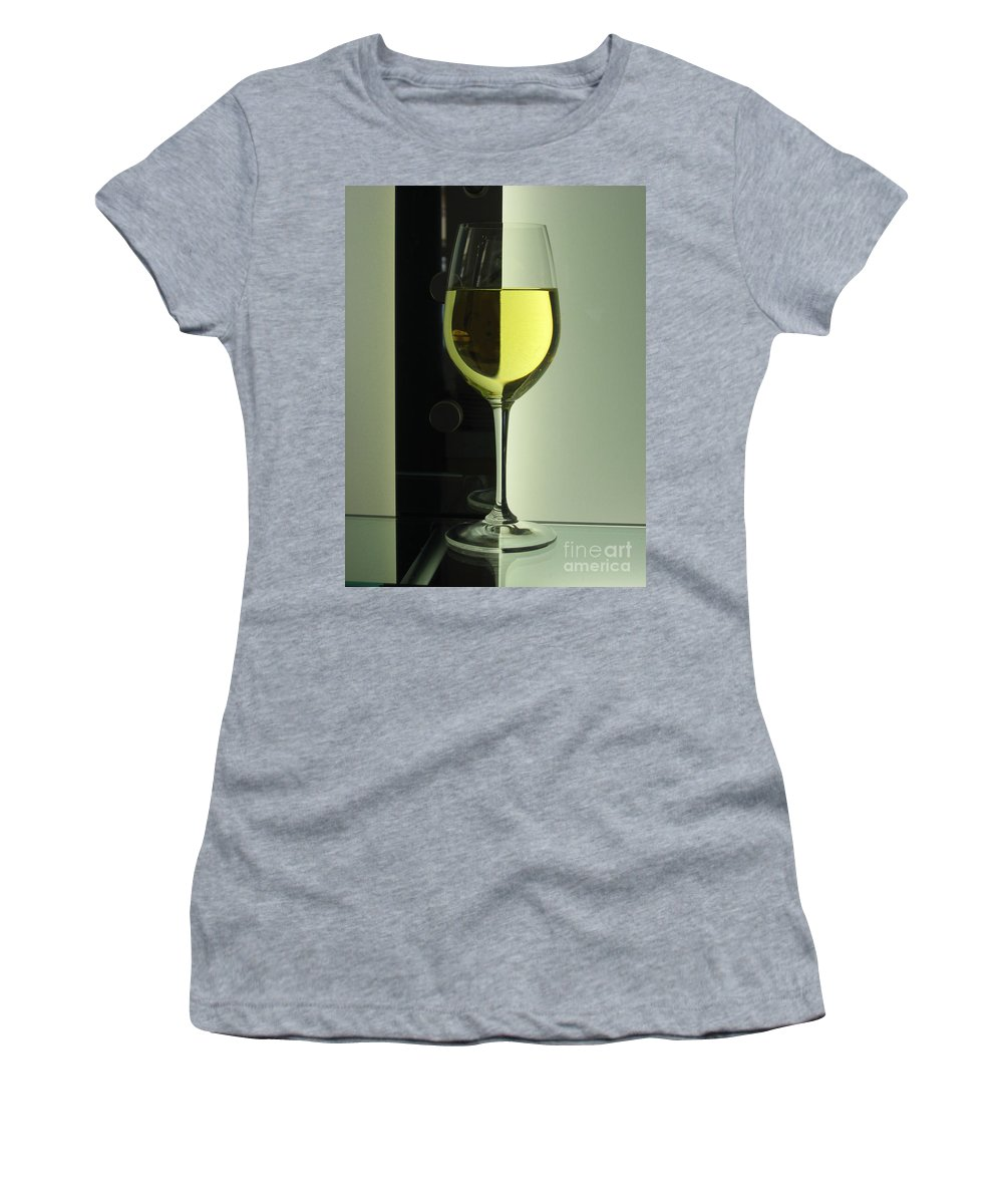 Wine Women's T-Shirt (Athletic Fit) featuring the photograph Pinot Grigio by Caroline Peacock