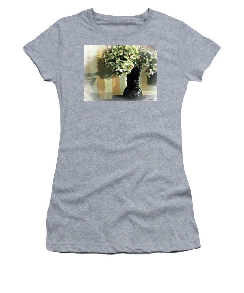 Plantation Women's T-Shirt (Athletic Fit) featuring the digital art Plantation Arrangement by Joan Minchak