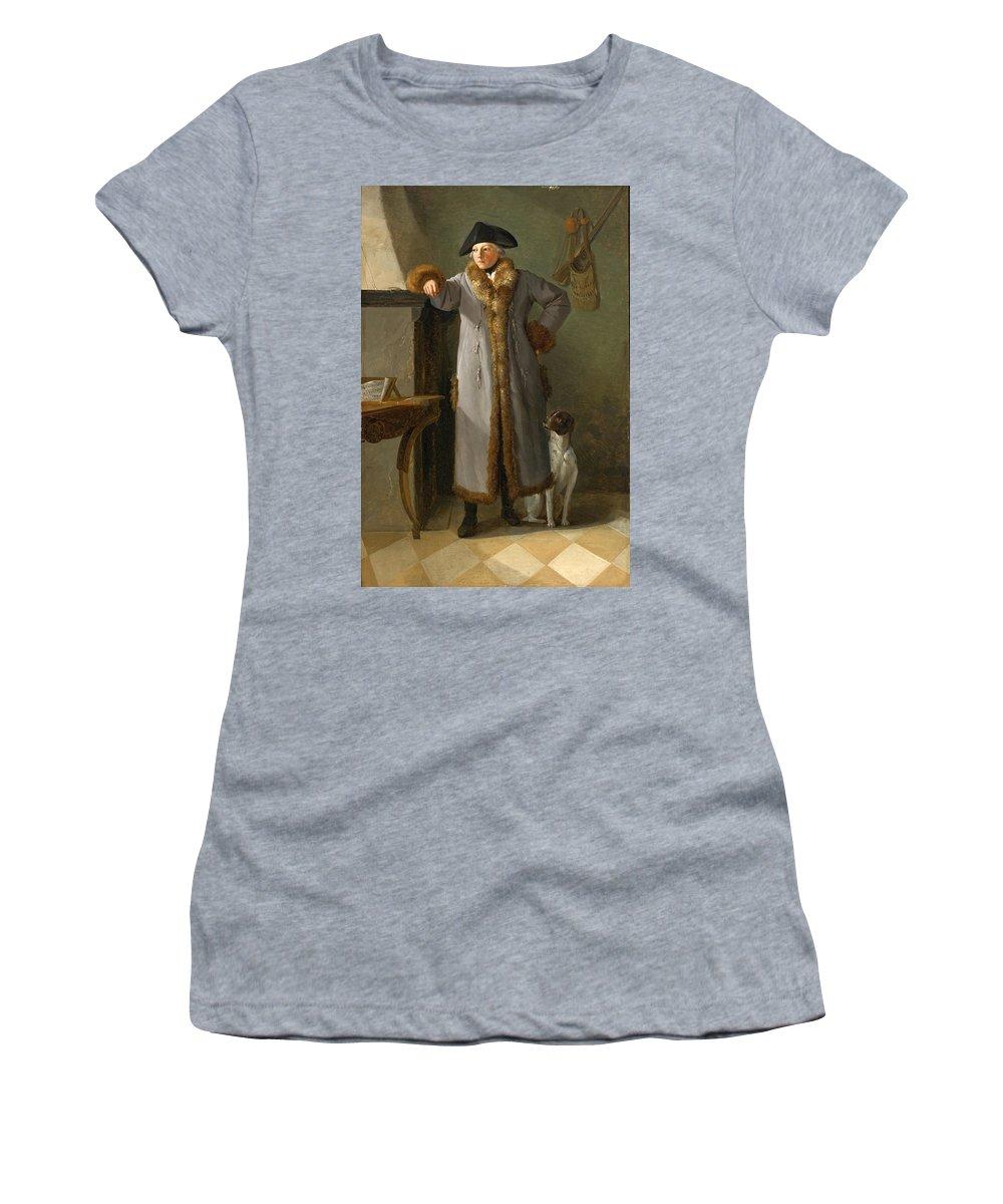 Philipp Friedrich Von Hetsch Women's T-Shirt (Athletic Fit) featuring the painting Portrait Of Gottlieb Christian Heigelen As A Hunter by Philipp Friedrich von Hetsch