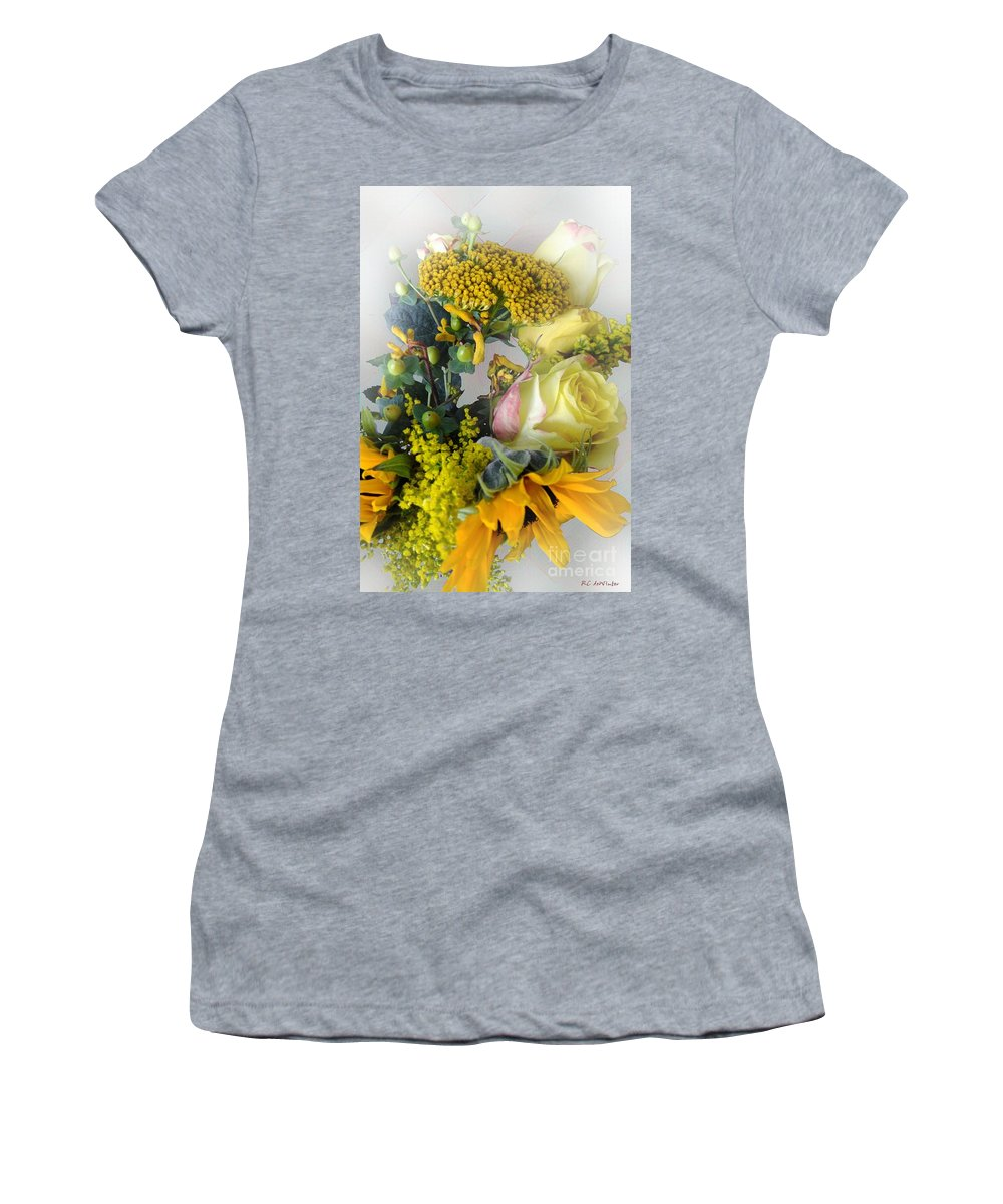 Bouquet Women's T-Shirt featuring the photograph Posies Picturesque by RC DeWinter