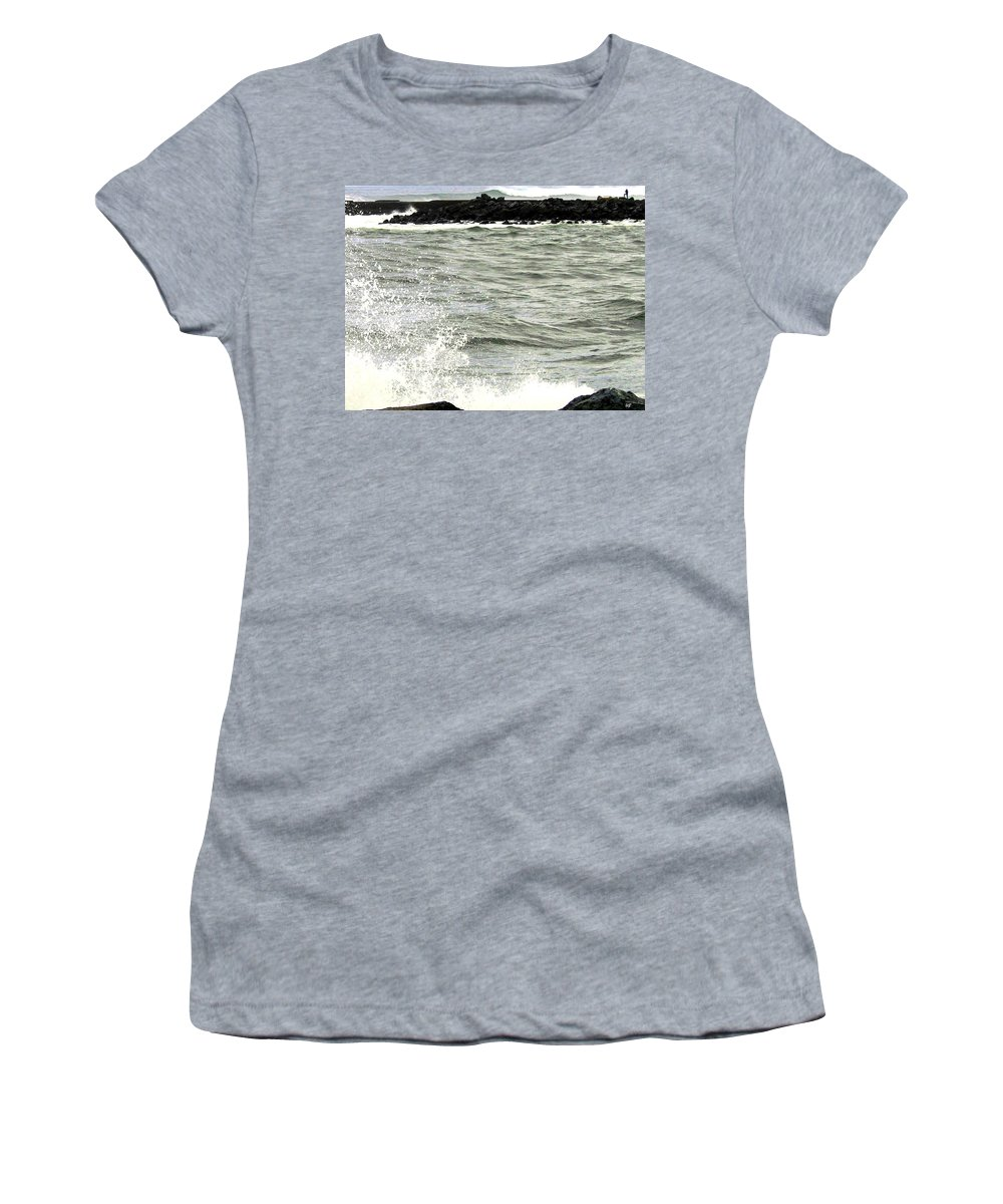 Stormy Women's T-Shirt (Athletic Fit) featuring the photograph Precarious by Will Borden