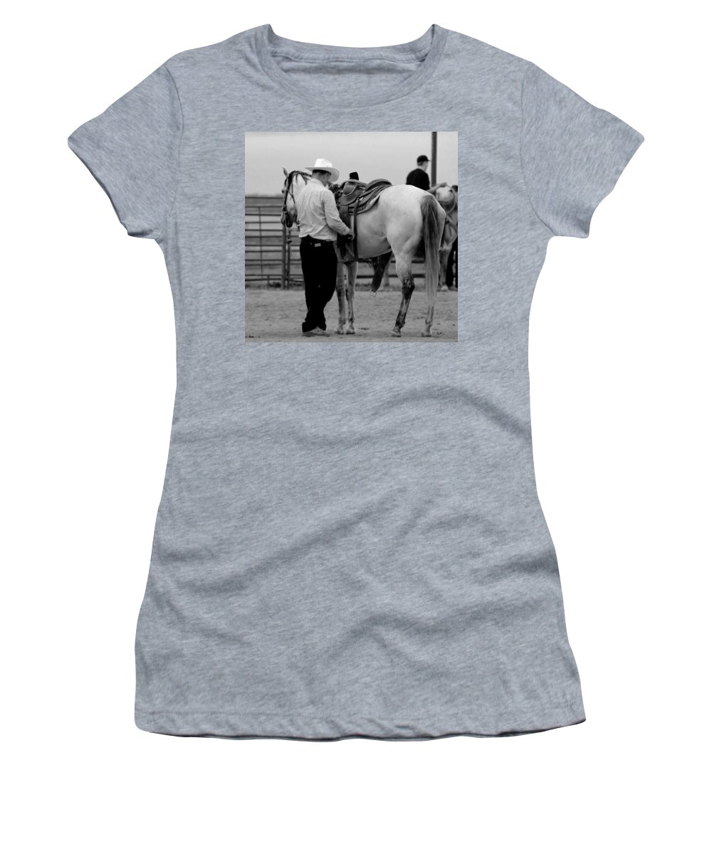 Rodeo Women's T-Shirt featuring the photograph Preparing by Scott Sawyer