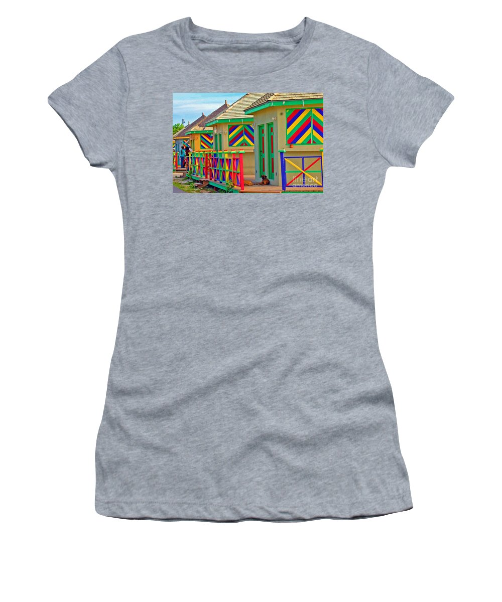 Vivid Women's T-Shirt (Athletic Fit) featuring the photograph Primary Colors by Debbi Granruth