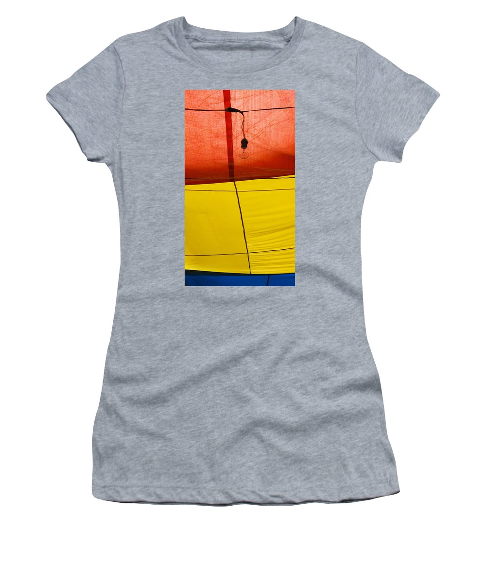Bulb Women's T-Shirt (Athletic Fit) featuring the photograph Primary Light by Skip Hunt