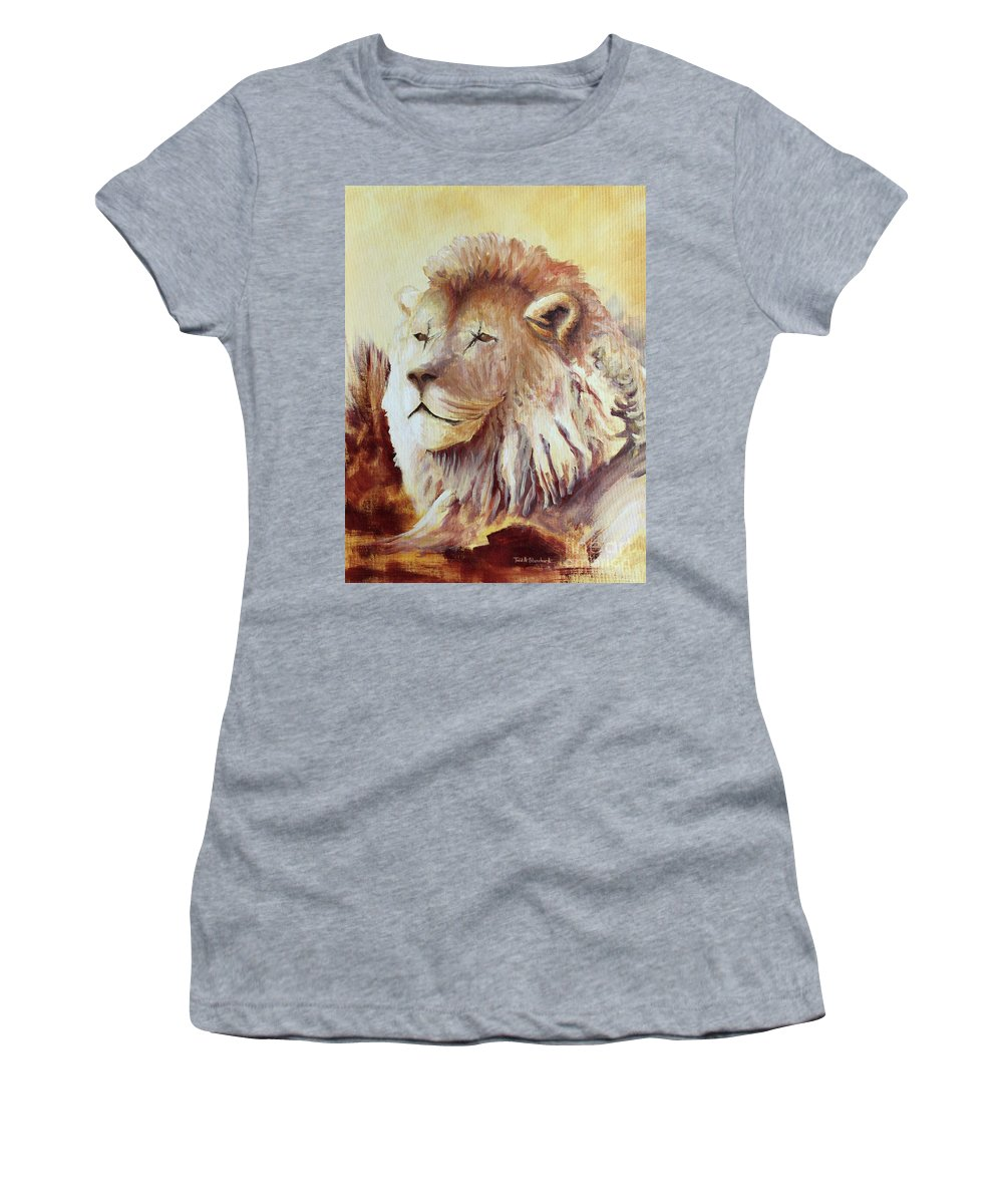 Animal Women's T-Shirt (Athletic Fit) featuring the painting Proud by Todd Blanchard