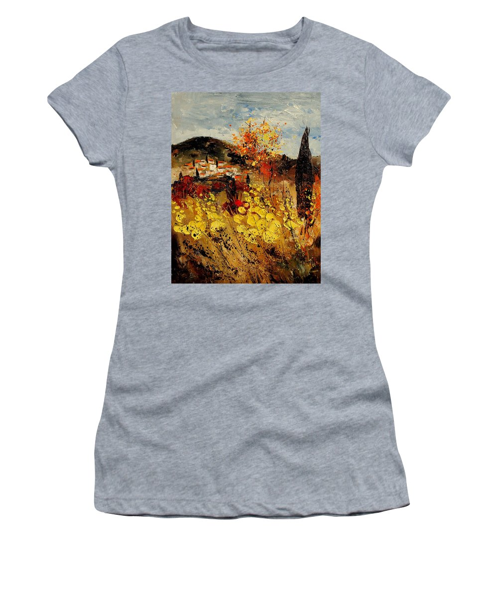 Provence Women's T-Shirt (Athletic Fit) featuring the painting Provence 459080 by Pol Ledent