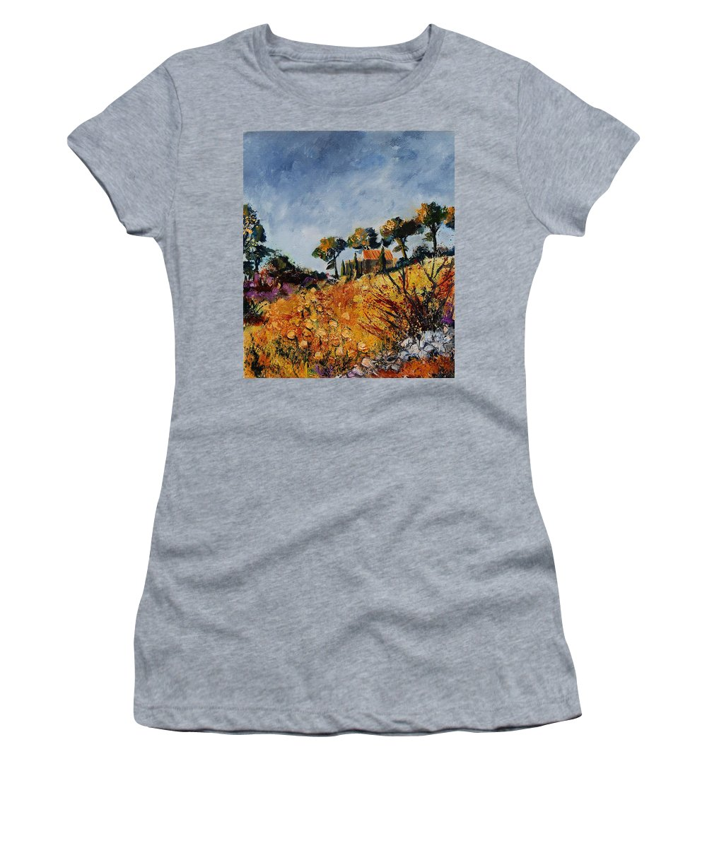 Provence Women's T-Shirt (Athletic Fit) featuring the painting Provence 6741254 by Pol Ledent