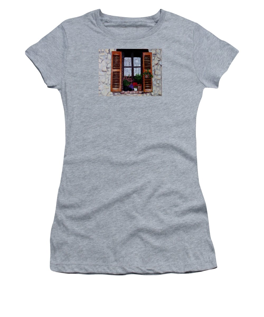 Provence Women's T-Shirt (Athletic Fit) featuring the painting Provence Morning by Laurie Morgan