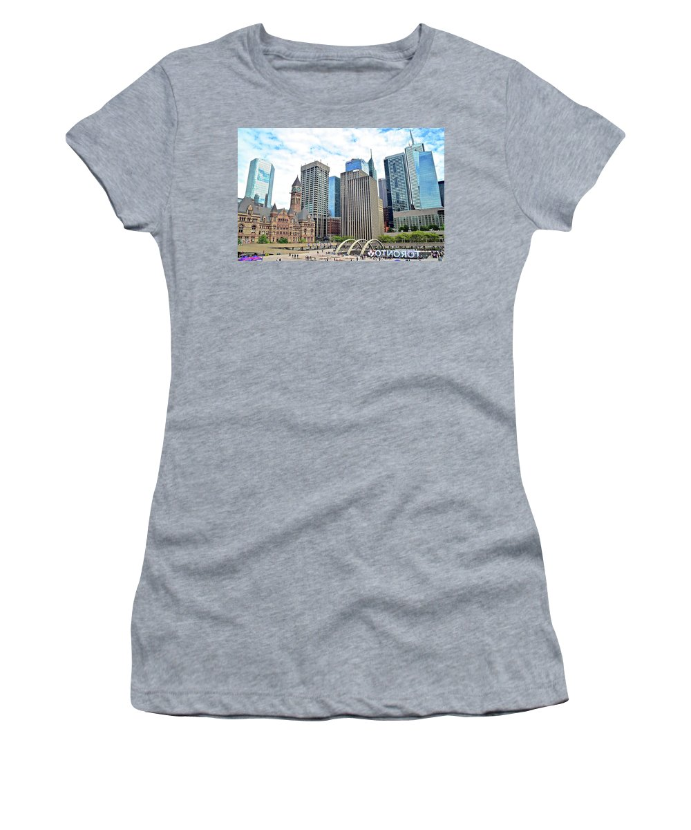 Toronto Women's T-Shirt featuring the photograph Public Park In The Heart Of Toronto by Skyline Photos of America