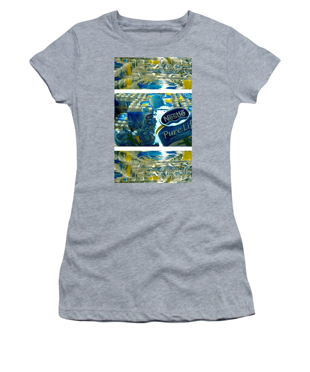 Water Women's T-Shirt (Athletic Fit) featuring the photograph Pure Life by Ze DaLuz