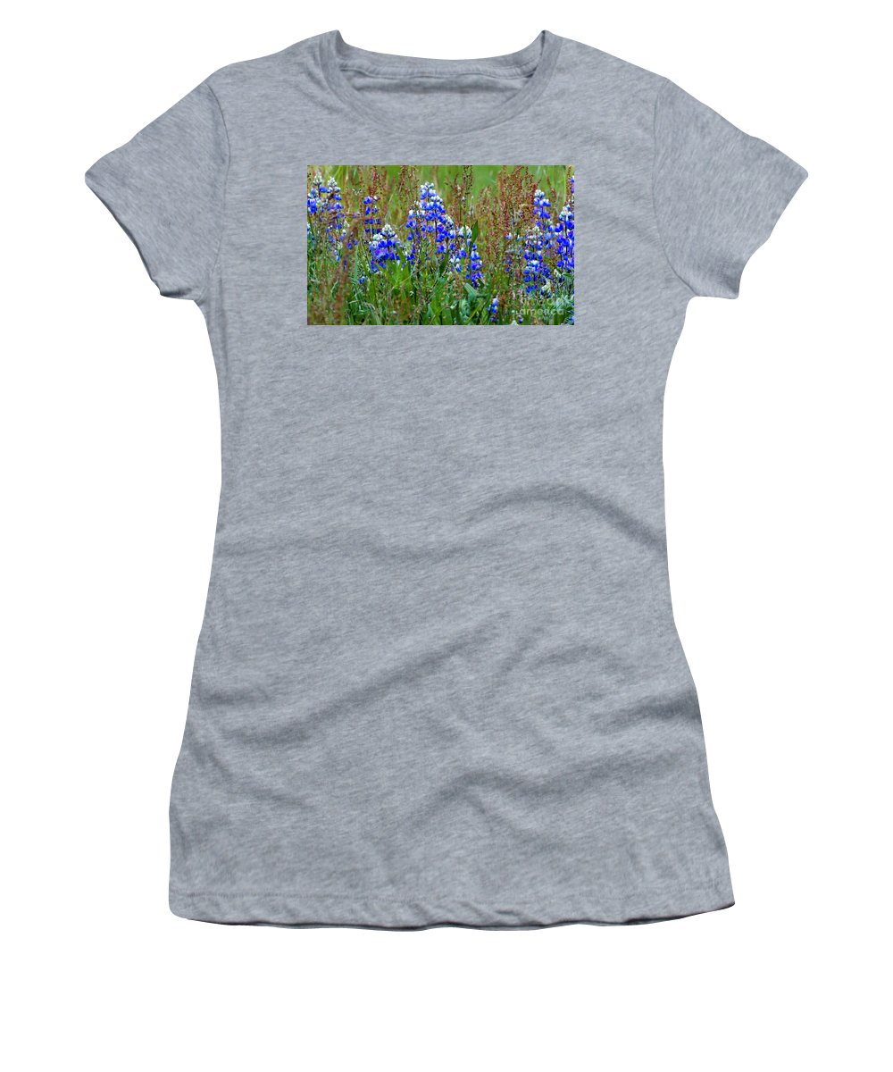 Dragon Women's T-Shirt (Athletic Fit) featuring the photograph Purple And Grass by Grant Bolei