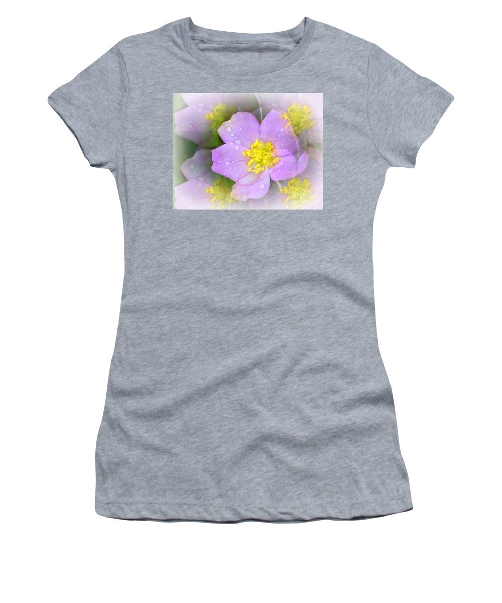 Flowers Women's T-Shirt featuring the photograph Purple Prism by Marty Koch
