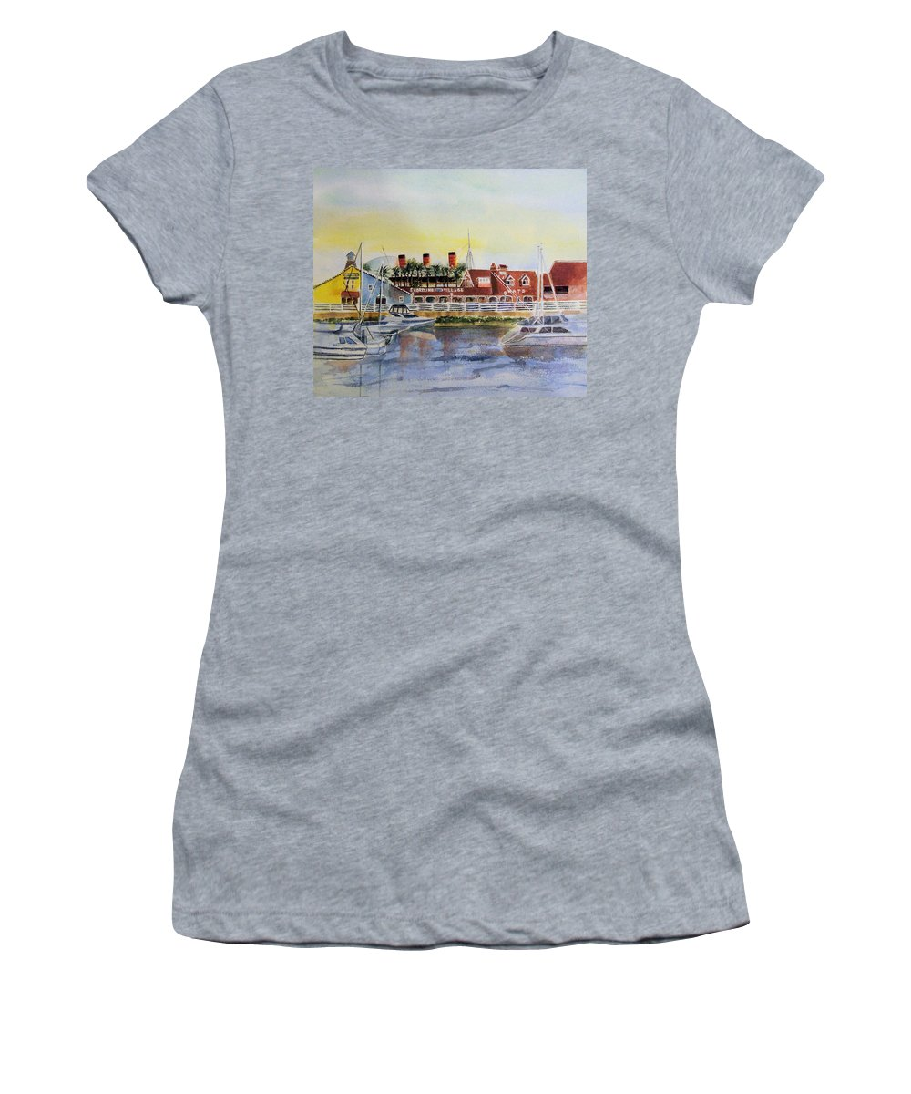 Watercolor Women's T-Shirt featuring the painting Queen Of The Shore by Debbie Lewis