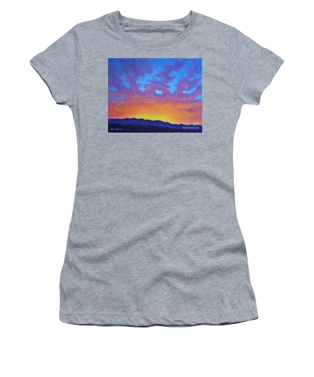 Landscape Women's T-Shirt (Athletic Fit) featuring the painting Radiance by Brian Commerford