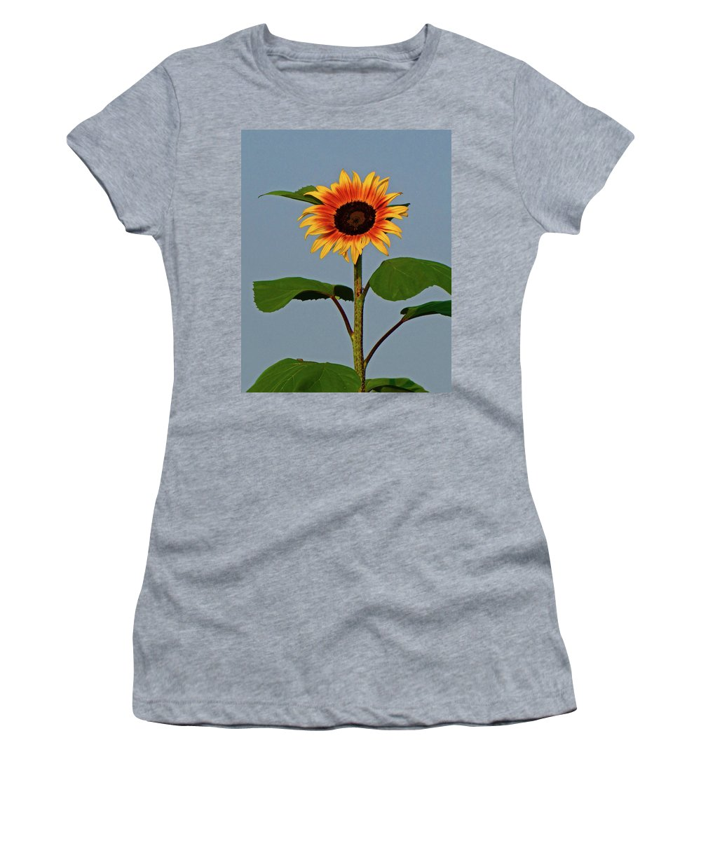 Floral Women's T-Shirt featuring the photograph Radiant Sunflower by Peg Urban