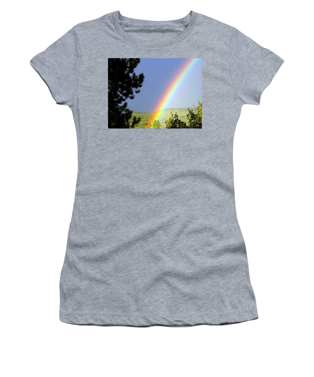 Rainbow Women's T-Shirt (Athletic Fit) featuring the photograph Rainbow Covenant by Will Borden