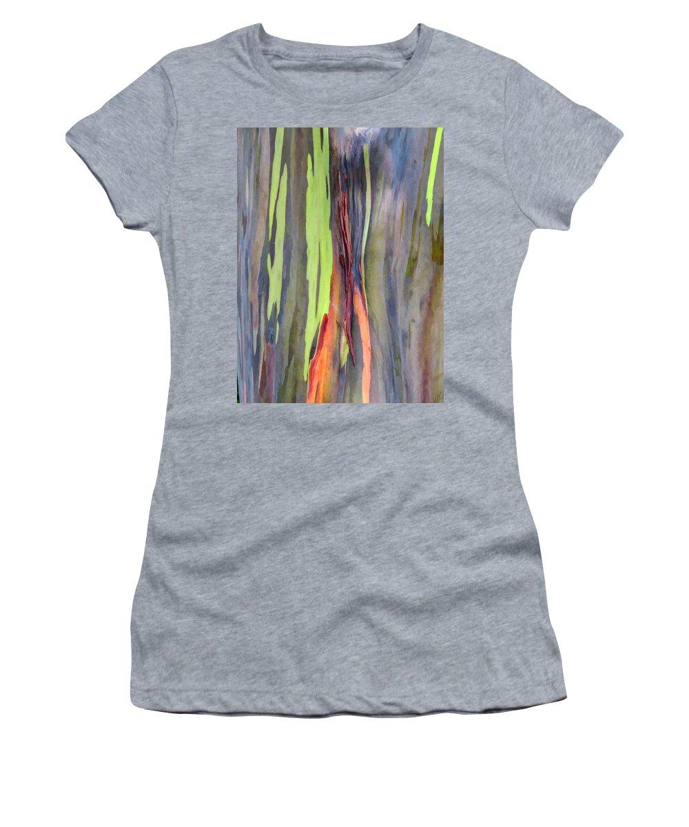 Hawaii Women's T-Shirt featuring the photograph Rainbow Eucalyptus 13 by Dawn Eshelman