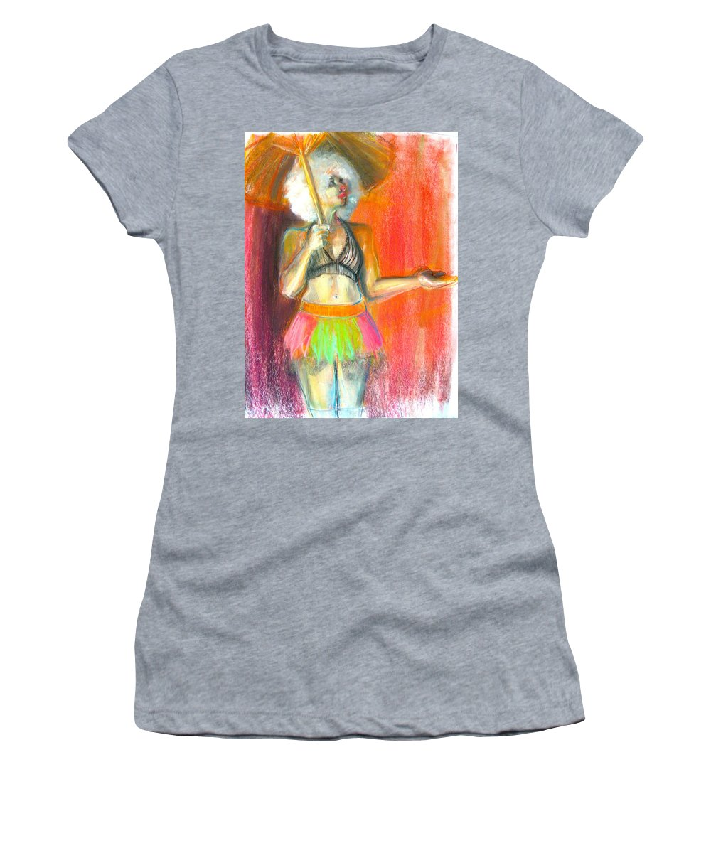 Figure Women's T-Shirt featuring the drawing Rainbow by Gabrielle Wilson-Sealy