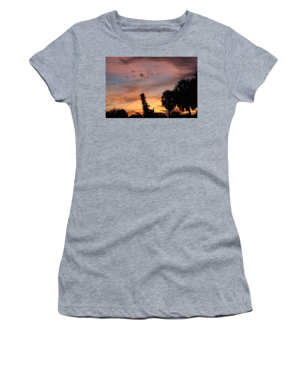 Sunset Women's T-Shirt (Athletic Fit) featuring the photograph Rainbow Sunset by Rob Hans