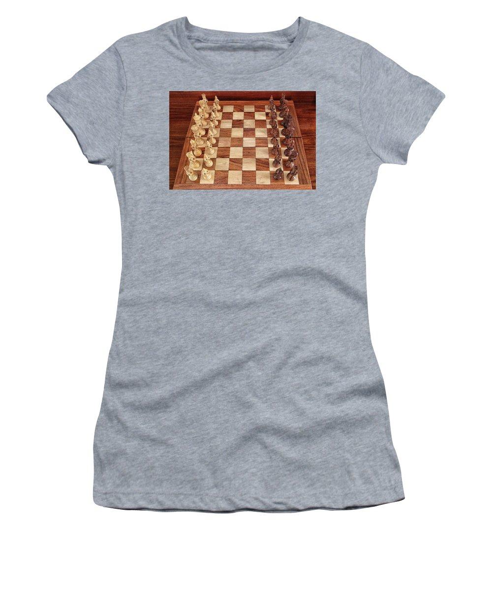 Board Women's T-Shirt featuring the photograph Ready for Battle by Sandeep Gangadharan