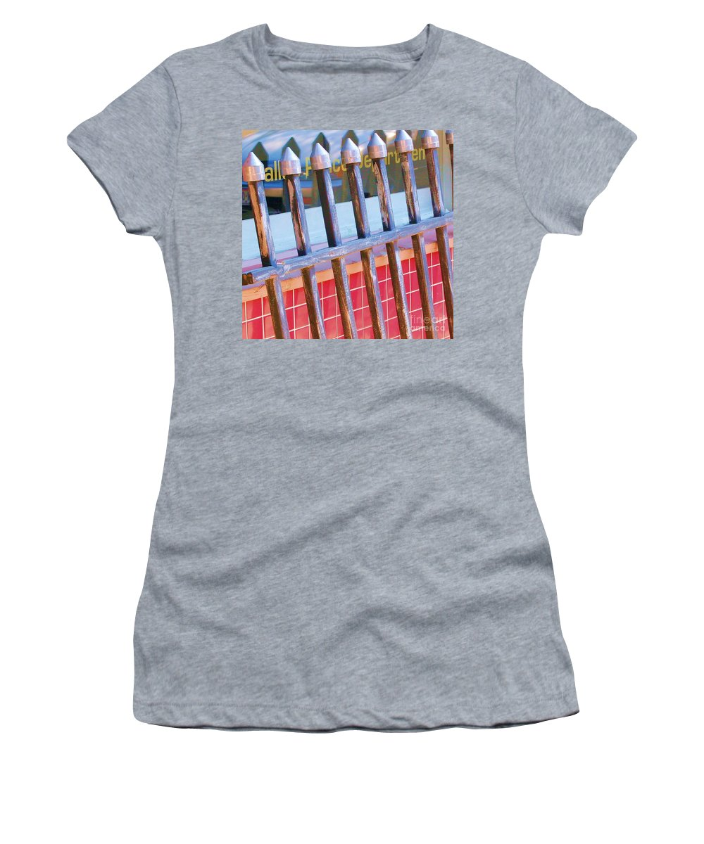 Gate Women's T-Shirt (Athletic Fit) featuring the photograph Reflections by Debbi Granruth