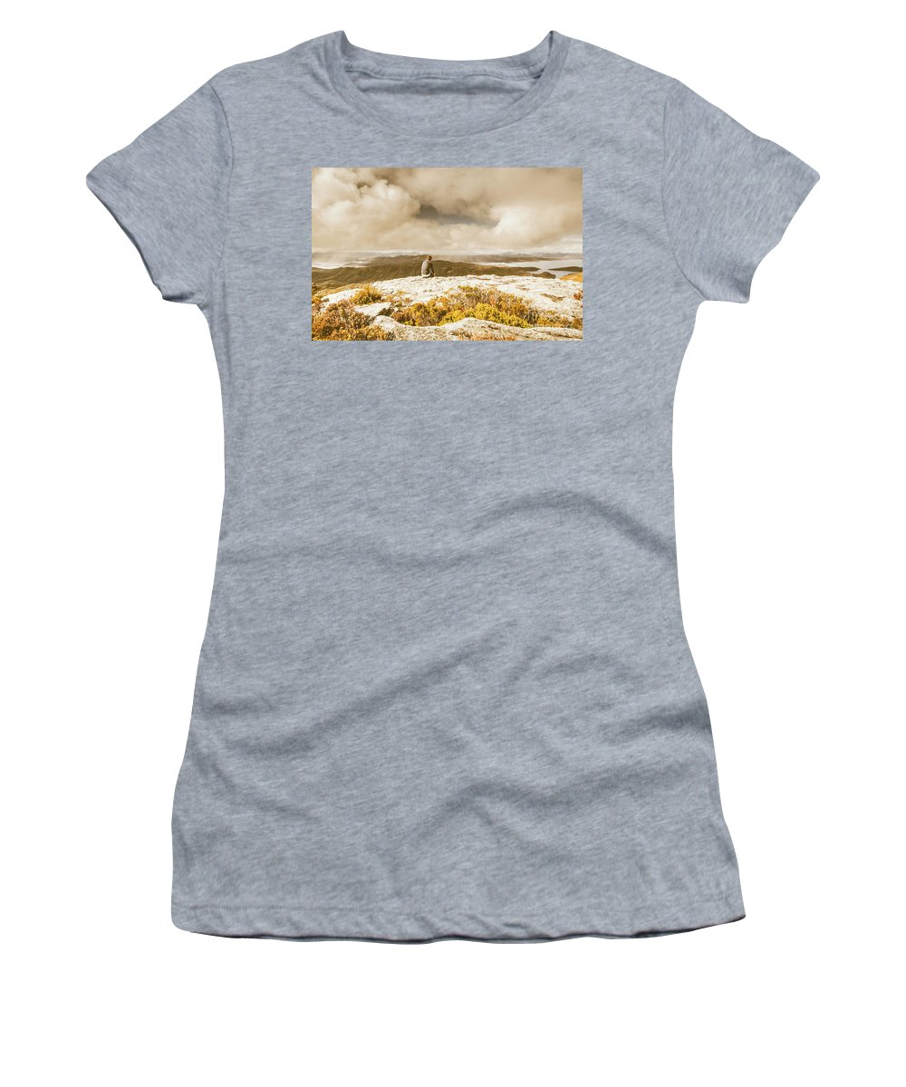 Travel Women's T-Shirt featuring the photograph Retro Mountaintop Views by Jorgo Photography - Wall Art Gallery