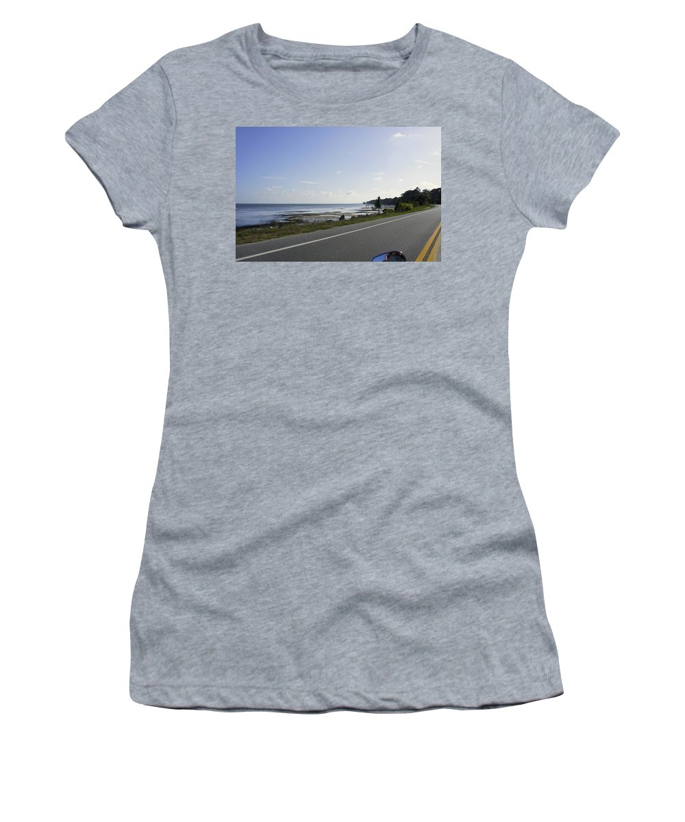 Pensacola Beach Women's T-Shirt featuring the photograph Riding Along The Pandhandle by Laurie Perry