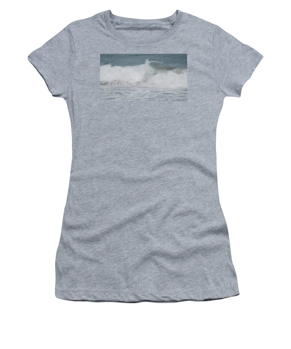 White Women's T-Shirt (Athletic Fit) featuring the photograph Ripple by Rob Hans