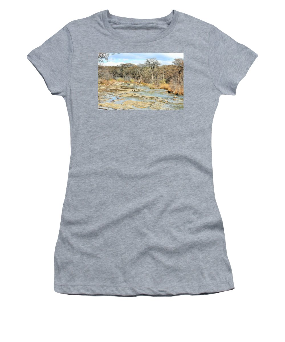 Women's T-Shirt featuring the photograph River Bottom by Jeff Downs