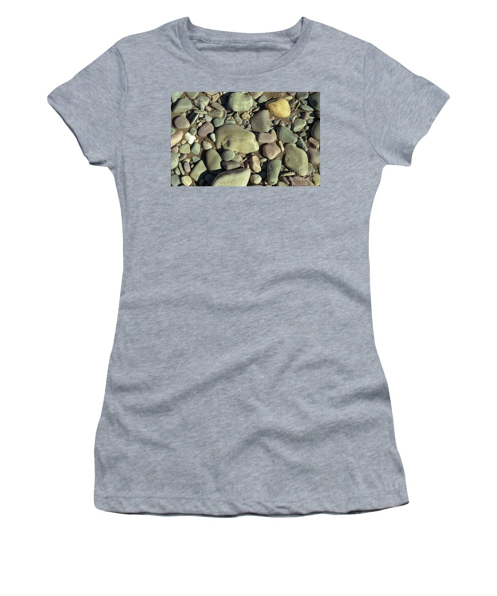 River Rock Women's T-Shirt (Athletic Fit) featuring the photograph River Rock by Richard Rizzo