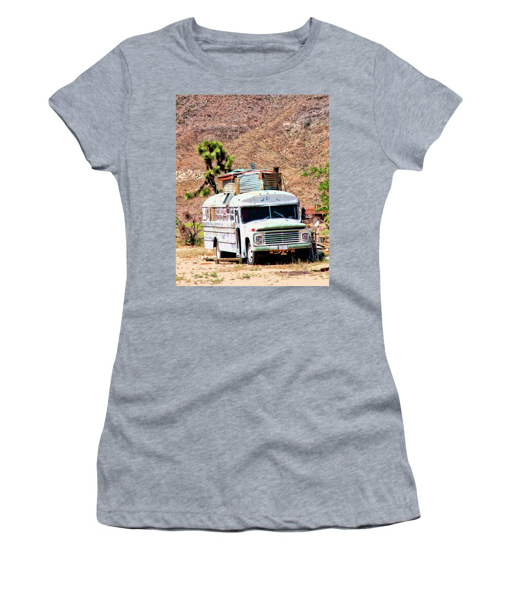 Pioneertown Women's T-Shirt (Athletic Fit) featuring the photograph Road Warrior by William Dey