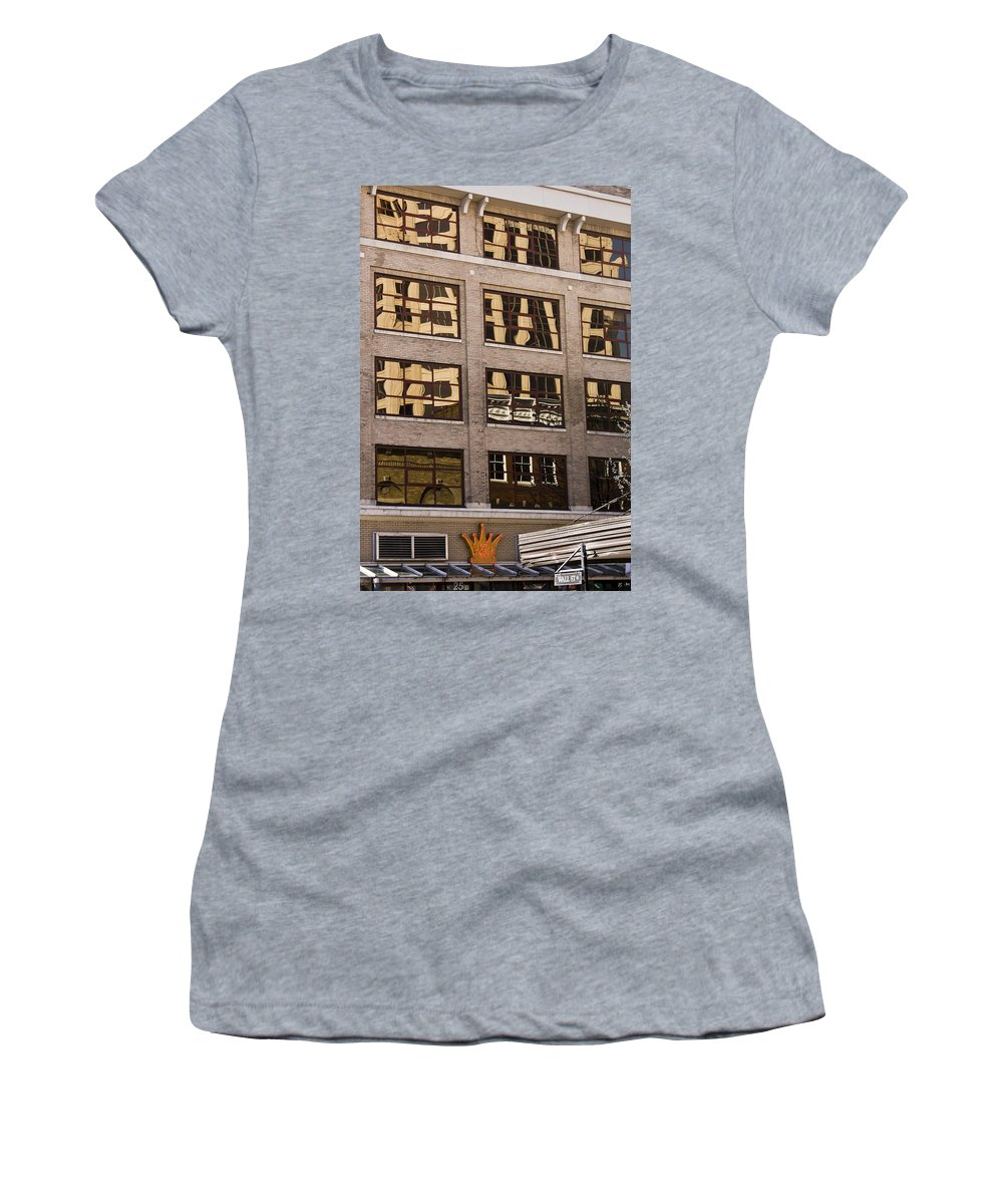 Roanoke Women's T-Shirt (Athletic Fit) featuring the photograph Roanoke Reflection by Teresa Mucha